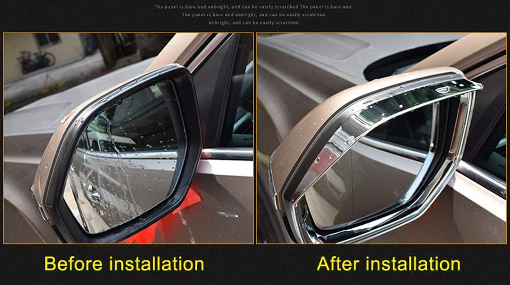 Bishop Tate Silver Car Styling Auto Accessories Rear View Mirror Cover Trim for VW Volkswagen Atlas 2017-2019