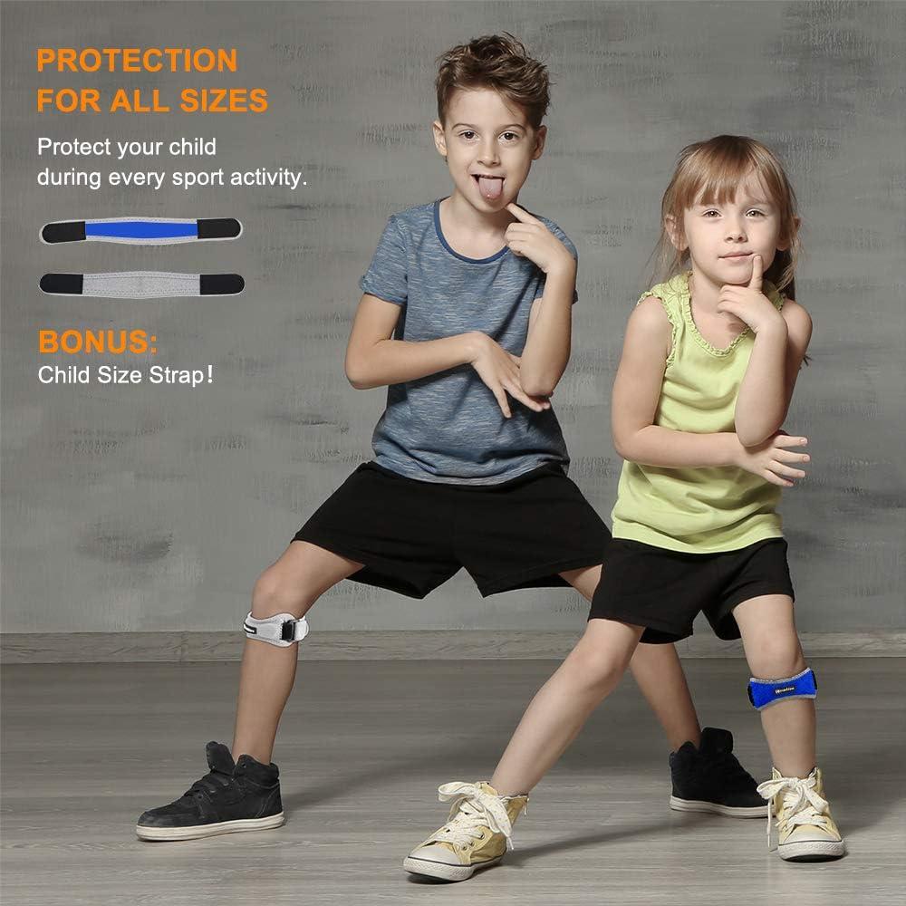 Banda de Soporte para R/ótula Ajustable Tendinitis CAMBIVO 2 Pack Rodillera Cinta Rotuliana Artritis y Recuperaci/ón de lesiones Voleibol Para Running Rodilleras