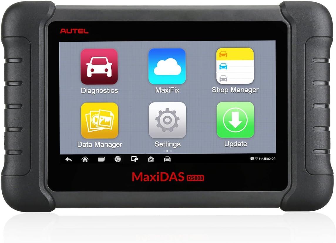 Autel Maxidas Ds808 Kfz Diagnosewerkzeug Obd2 Scanner Key Bidirectional Control Injector Coding Gleiche Funktion Wie Ms906 Und Mp808 Auto