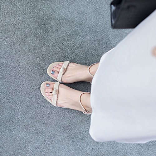 High Correa de T Fiesta Sandalias Oficina Banquete Verano de Albaricoque la de Bow Mujeres de GAOLIXIA Noche Toe por Trabajo de Peep de Bombas Heels Zapatos Cuero XqwOt0Y