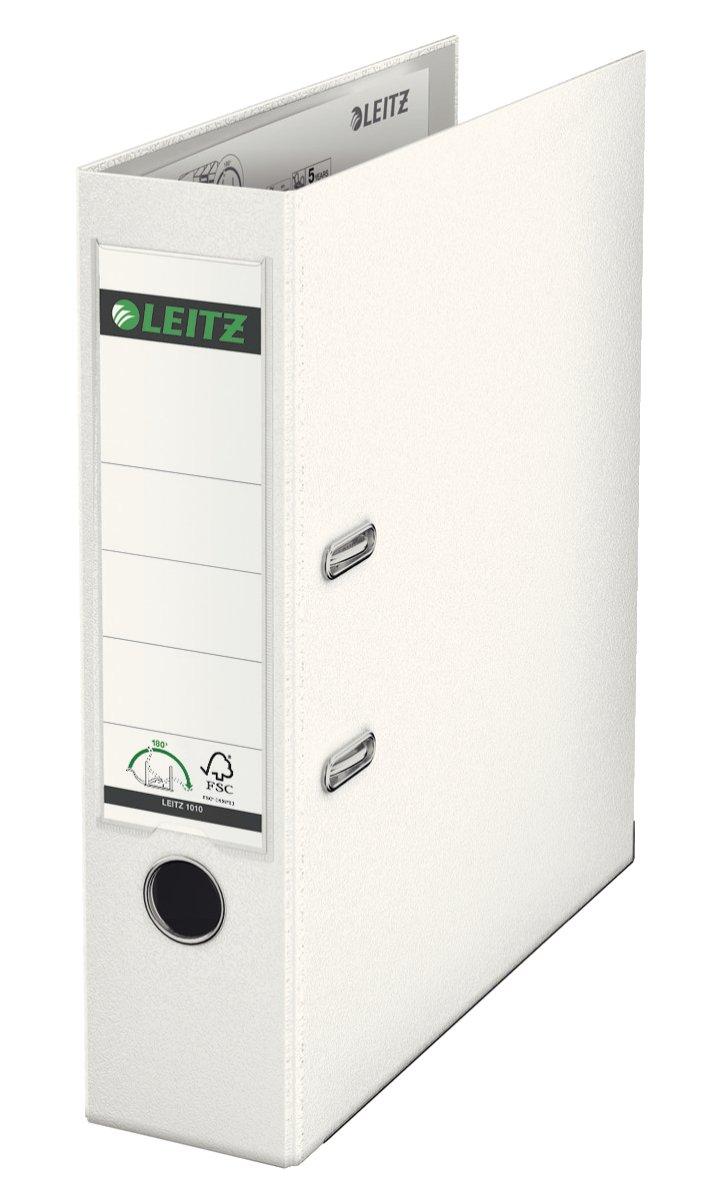Leitz 180° 1010 - Archivador de palanca (A4, lomo 80 mm, plástico), color blanco: Amazon.es: Oficina y papelería