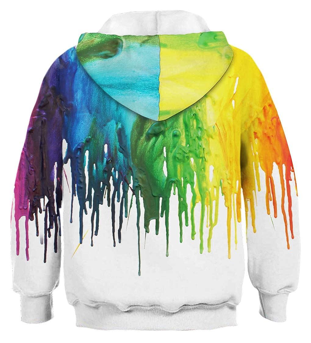 AviviRuth Teen Boys Girls Novelty 3D Print Pullover Hoodies Sweatshirt Athletic