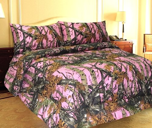 THE WOODS Premium Microfiber CAMO Sheet Set (Pink, Full) by The Woods (Image #1)