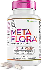 METAFLORA for Women Health - Probiotic Supplements - 15x More Effective Than Probiotic Capsules with Patented Delivery Technology - 30 Daily Time Release Pearls