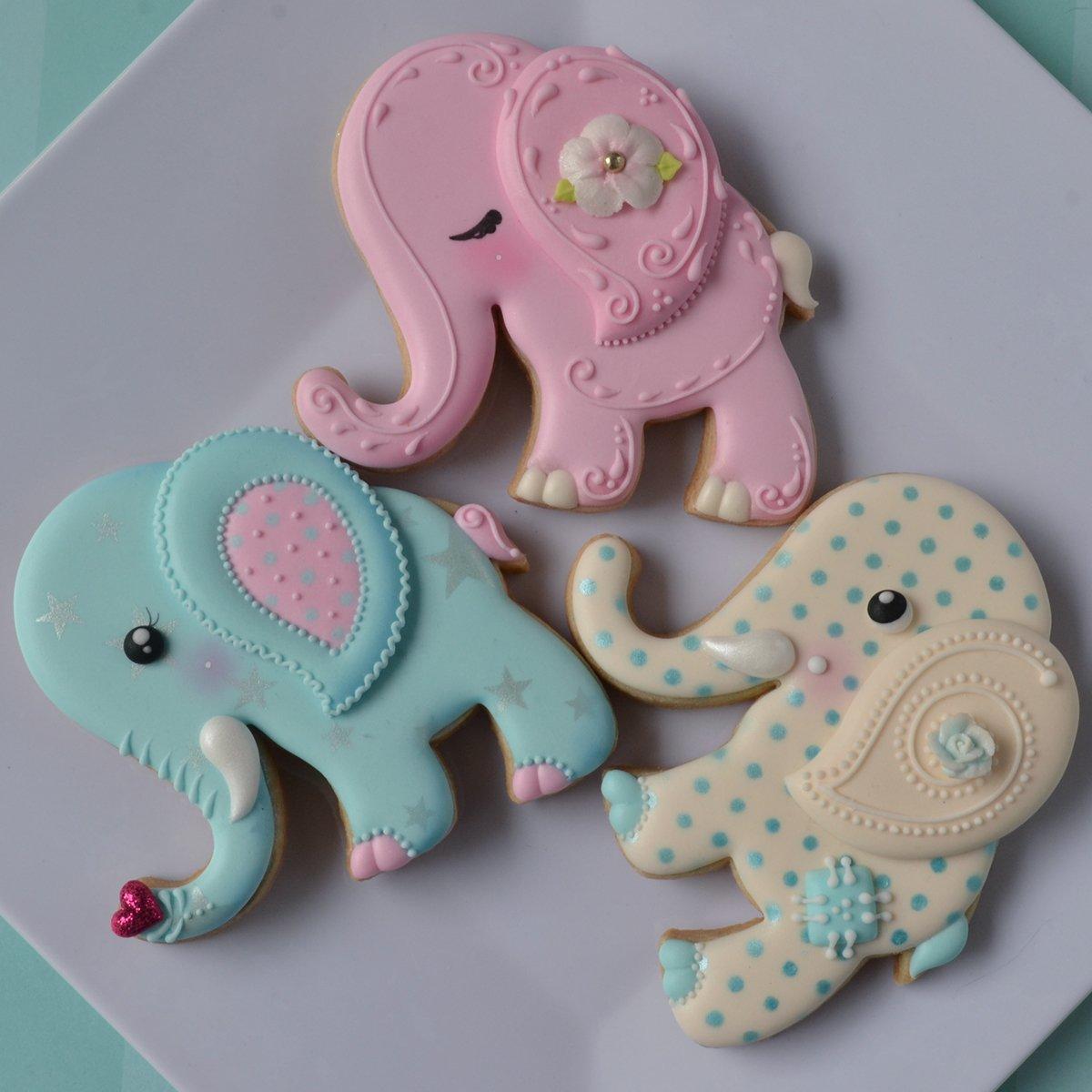 Amazon.com: Jungle Animal Cookie Cutter Set- Elephant, Monkey, Lion ...