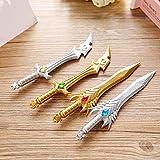 Katoot@ 12 pcs/lot Korean stationery Heavenly Sword gel pen 0.38mm cross fire knife ink pen office school writing supplies zakka