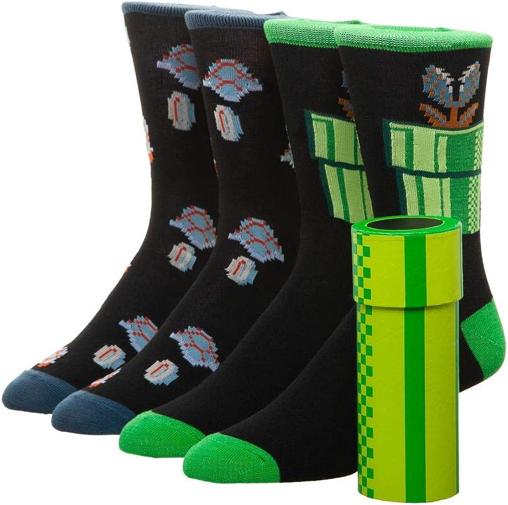 new Super Mario Games Socks foot Sox set 2 pairs boys girls kids cartoon heroes