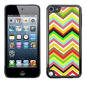 - Chevron Pattern V shapes - - Hard Plastic Protective Aluminum Back Case Skin Cover FOR Apple iPod Touch 5TH GEN Queen Pattern