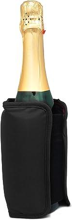 Vin Bouquet Funda Enfriadora Autojustable, Color Negro, 18.5 x 16 x 2 cm