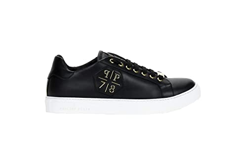 4bf9074019a Philipp Plein Men s Sneaker Black Gold Trainers  Amazon.co.uk  Shoes ...