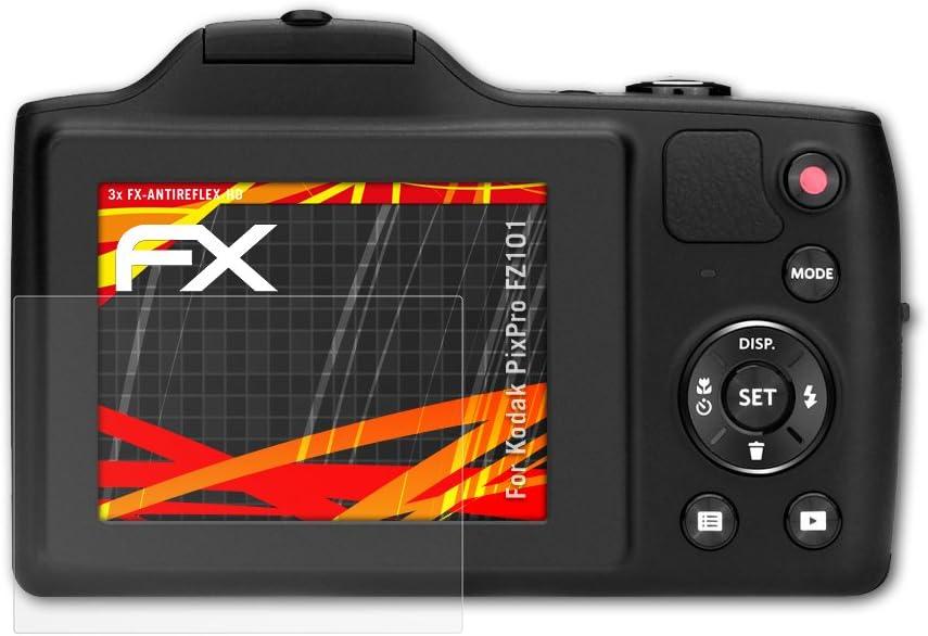 atFoliX Schutzfolie kompatibel mit Kodak PixPro FZ101 Displayschutzfolie HD-Entspiegelung FX Folie 3X