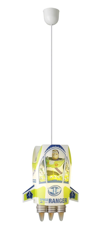 Disney T320003EU - Lámpara colgante para habitación infantil, diseño de cohete espacial de Toy Story