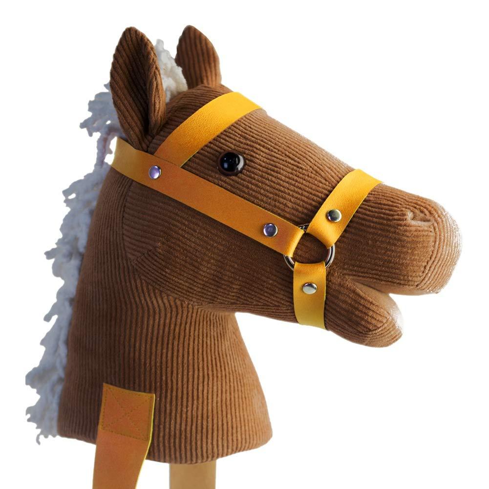 Wenasi Kids Fantasy Hobby Horse With Sound Toy Interative Stuffed Animal Riding Horse Toy