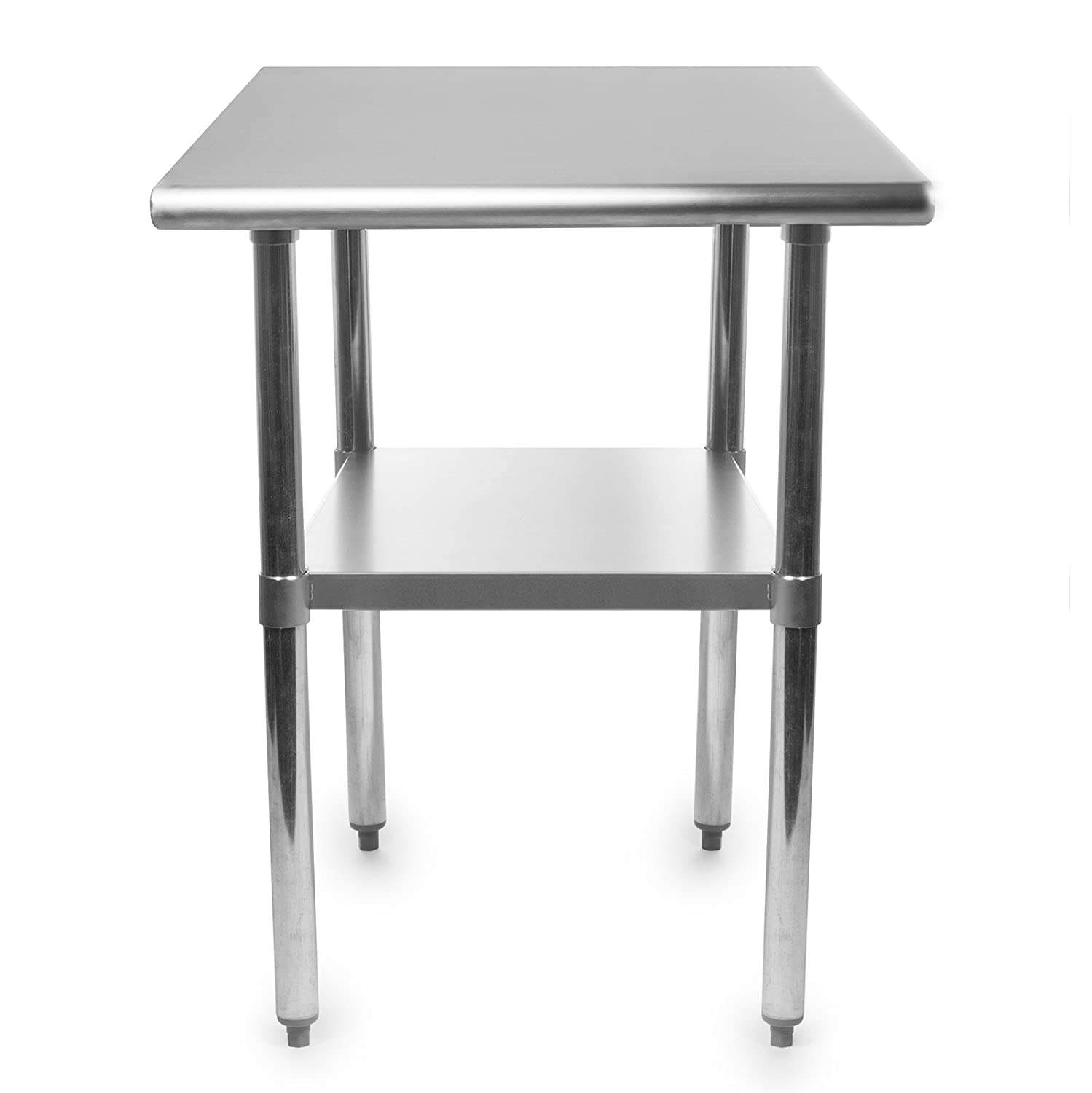 Amazon.com: Gridmann NSF Stainless Steel Commercial Kitchen Prep U0026 Work  Table   30 In. X 24 In.: Industrial U0026 Scientific