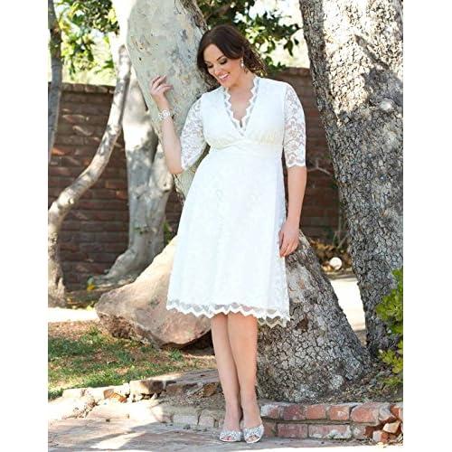 a966ed0613e good Kiyonna Women s Plus Size Wedding Belle Dress ...