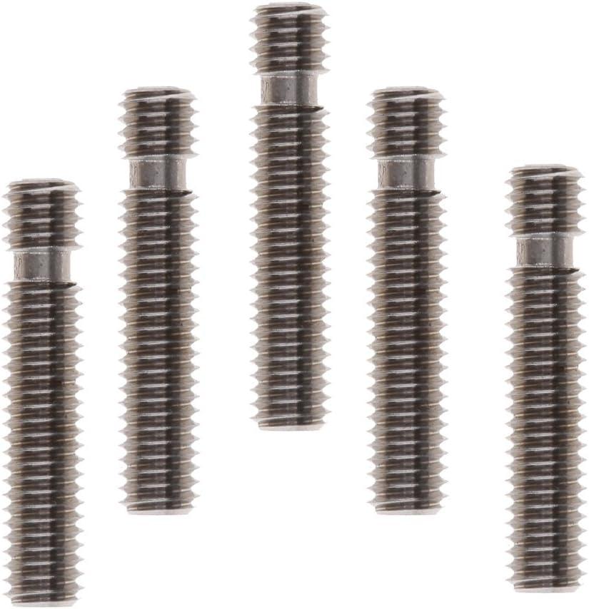 Baoblaze 5piezas Tubos de Garganta de Extrusor de Boca M6 x 30mm para Piezas de Impresora 3D de Filamento de 1.75mm