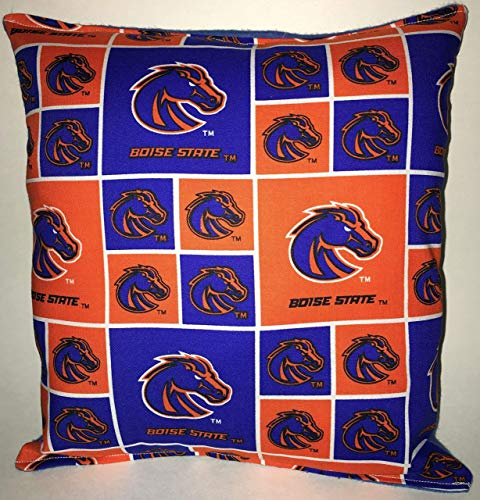 Boise State Pillow Football Pillow BOSIE Pillow NCAA HANDMADE In USA Pillow is approximately 10
