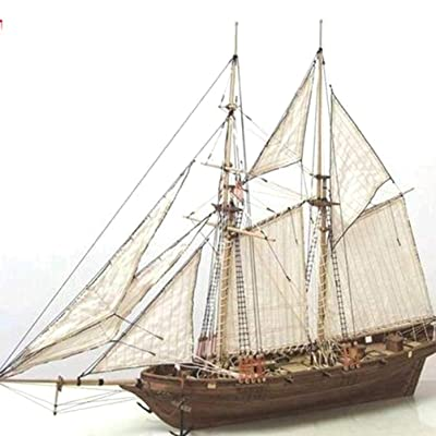 Ooscy Wooden Sailboat Ship kit, Shipbuilding kit Sailboat Model kit Wood Sailboat Wooden Model kit Toy: Home & Kitchen