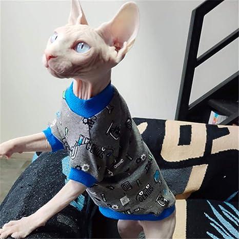 HCYD Ropa para Gatos Sphinx Ropa para Gatos sin Pelo Ropa Gris ...