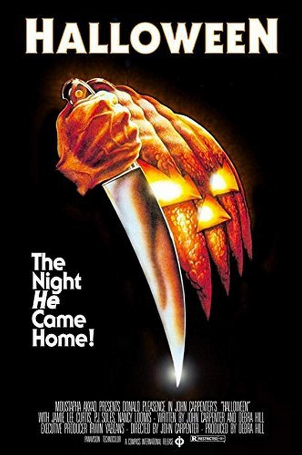 Amazon.com: Buyartforless John Carpenters Halloween (1978) 36x24 Classic Horror  Movie Art Print Poster The Night He Came Home!: Posters & Prints