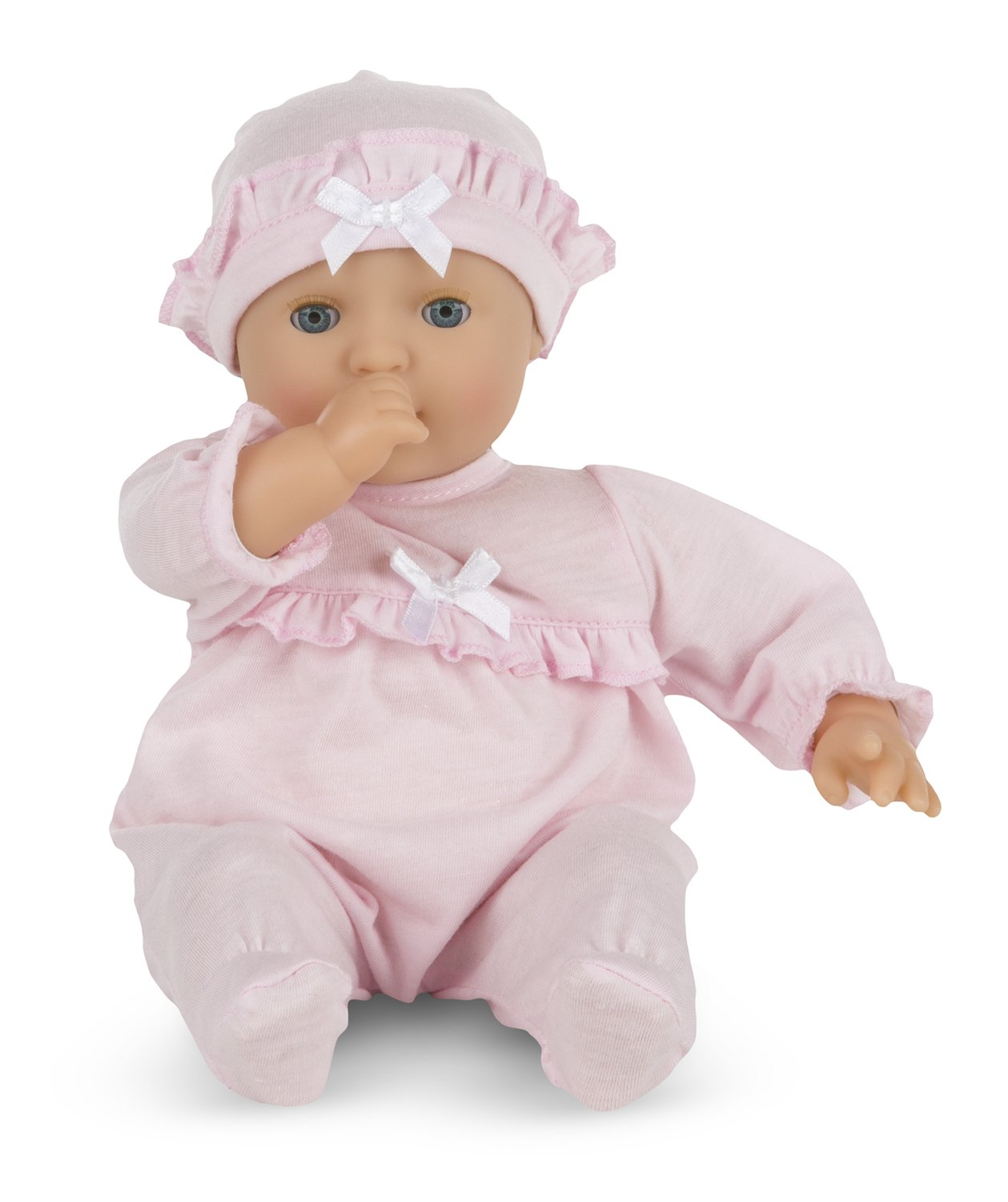 Melissa & Doug Mine to Love Jenna 12-Inch Soft Body Baby Doll With Romper and Hat