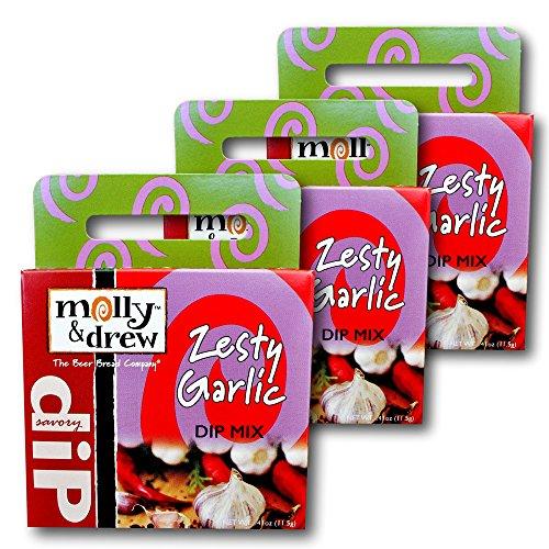 molly&drew Savory Dip Mix (3 Packs), Zesty Garlic