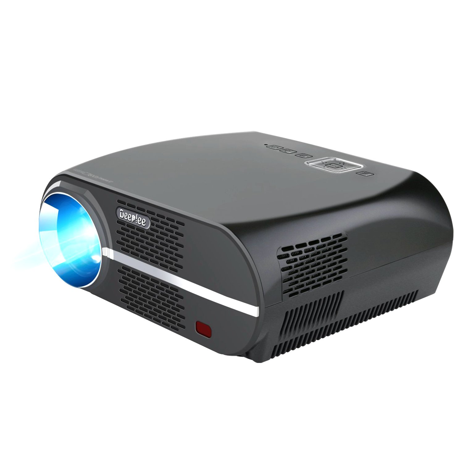 DeepLee GP100 3500 Lumens Movie LED Projector 720P for Phone/Laptop/USB Flash Drive/Dongle/Game Console with HDMI USB AV VGA AUX, Works with EVERYTHING with High Brightness and Clearness