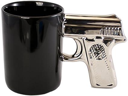 Pistol Grip Coffee Mug - Made of Premium Ceramic - Microwave Safe -  Handwash Only - Gun Lover's Gift
