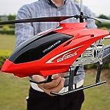 Ycco 子供のUSB充電のための大型屋外ヘリコプターRCドローン玩具3.5チャンネルRCドローンヘリコプター玩具カラーLEDライト夜空飛行ギフトティーネージャー用男の子女の子向けギフト(赤)