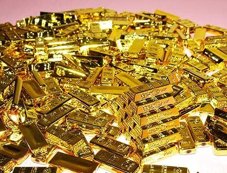 Amazon | 幸福の金塊シリーズ♪アクリル金塊パーツ(1袋約380~400個入) | おもちゃ雑貨 | おもちゃ