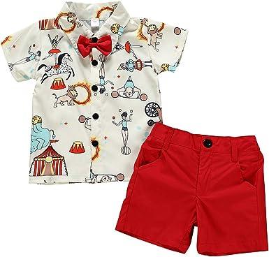 Haokaini Baby Boys Animal Circus Impreso Trajes Top Camisa ...