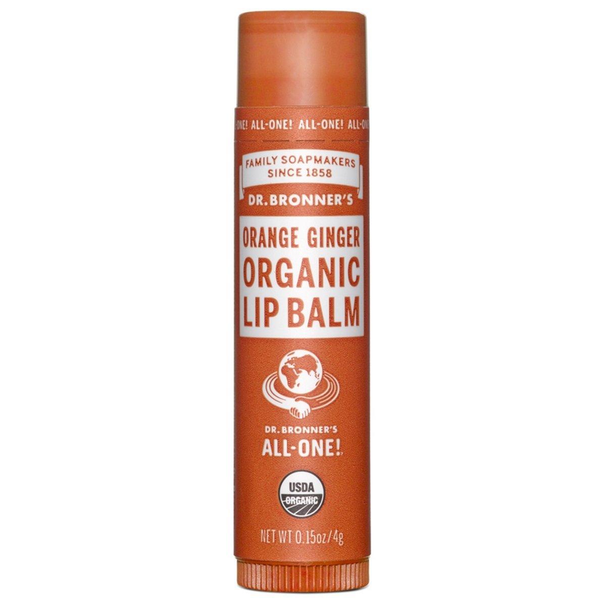 """""""All One"""", Organic Lip Balm, Orange Ginger.15 oz (4 g) """"All One"""" Dr Bronner`s '018787920015"""