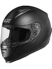 GLX GX11-MB-XL Matte Black X-Large Compact Lightweight Full Face Motorcycle Street Bike Helmet