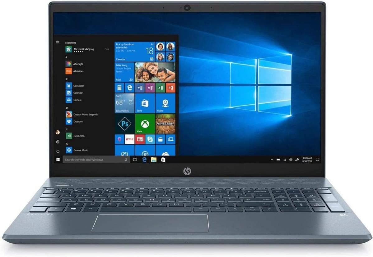 "HP Pavilion 15-cs3073cl 15.6"" Full HD Touchscreen Notebook, Intel Core i7-1065G7 1.3 GHz, 16GB RAM, 1TB HDD, NVIDIA GeForce MX250 4GB, Windows 10 Home - Refurbished by HP"