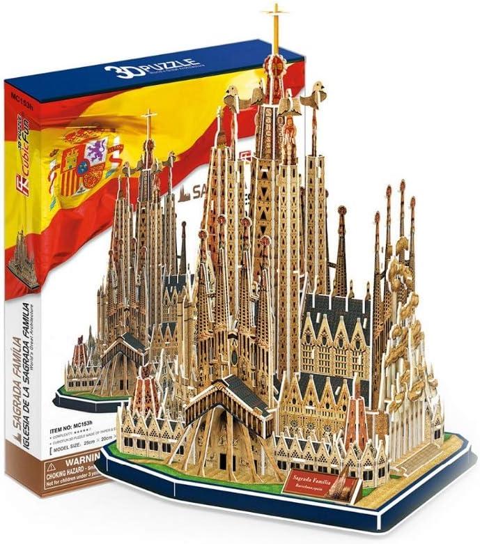 Rompecabezas 3D Modelo de Papel de construcción España Sagrada Familia Iglesia DIY niños Regalo Creativo Juguetes educativos: Amazon.es: Deportes y aire libre
