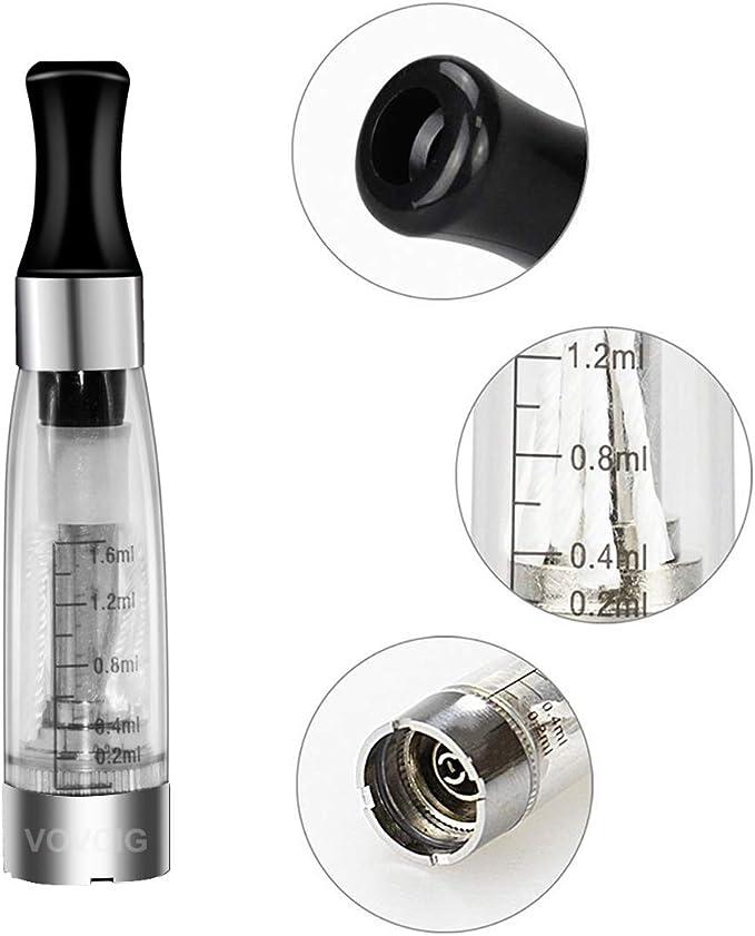 VOVCIG Cigarrillo Electronico,E-Cigarrillo E-líquido Ego II Kits:2 ...