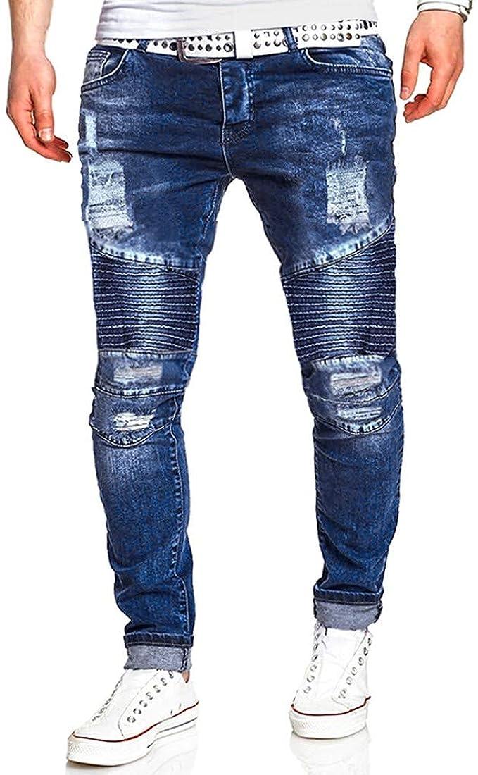 Vectry Pantalones Hombre Moda Causal Bolsillo con Cremallera ...