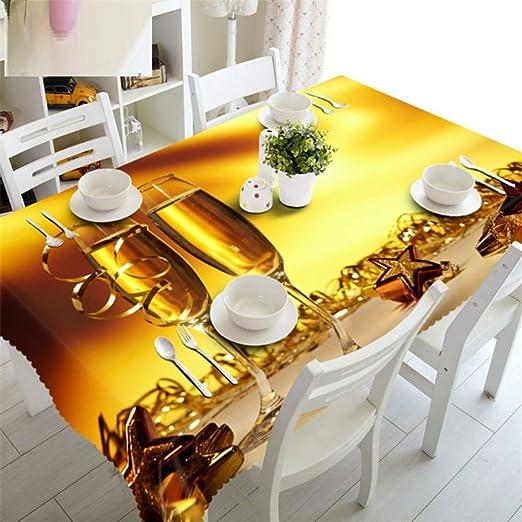 Shuangklei Navidad Mantel Mantel Cocina Mesa Mesa De Comedor ...