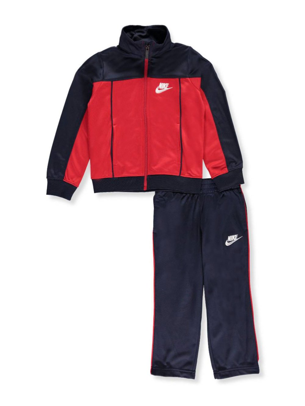 Nike Little Boys' 2-Piece Tricot Tracksuit (Sizes 4-7) - obsidian, 7