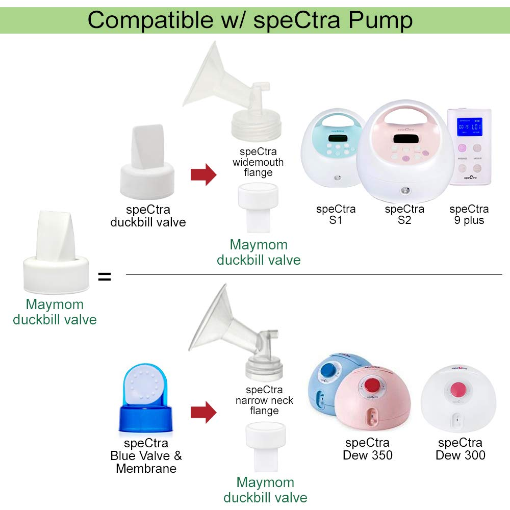 Dise/ñadas para Spectra S1 Spectra S2 Spectra 9 Plus Spectra Dew 350 No Original Spectra Pump Parts Spectra S2 Accesorios Reemplazar la v/álvula Spectra,6 ct Azul Maymom Duckbill V/álvulas para Spectra
