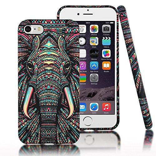 iPhone 7 Case,CLOUDS Luminous Luxury Fashion Cool Cute Elephant Tribe Animal TPU...