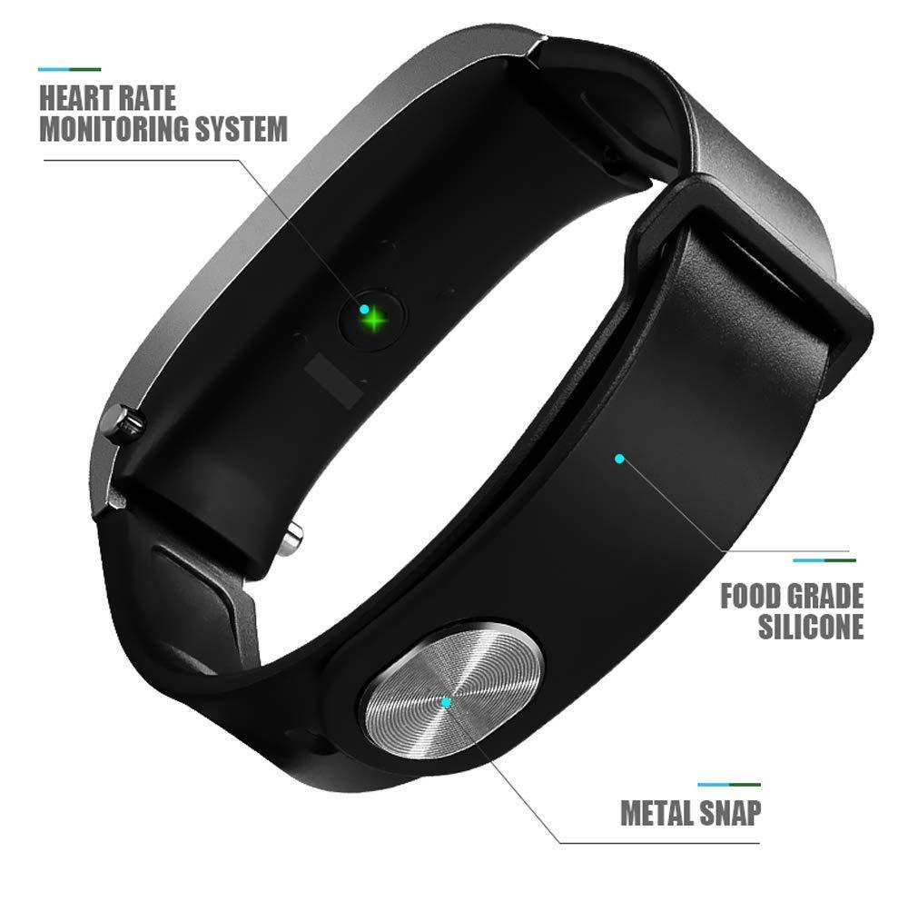 Hikaka Pulsera Inteligente 2 en 1 con Bluetooth Smartwatch ...