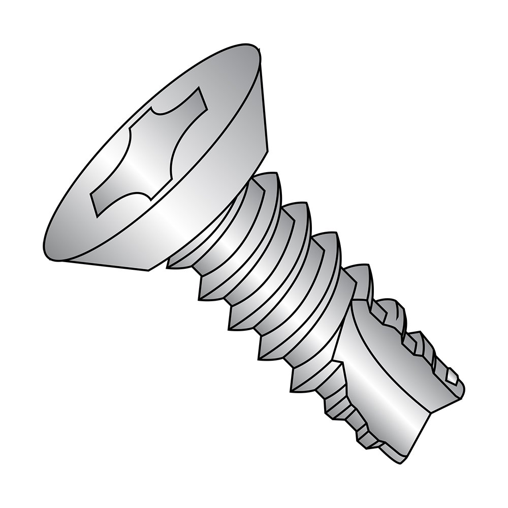 Plain Finish 82 Degree Flat Head Pack of 25 Type 25 Phillips Drive 18-8 Stainless Steel Thread Cutting Screw Pack of 25 #12-14 Thread Size 1//2 Length 1//2 Length Small Parts 12085PU188