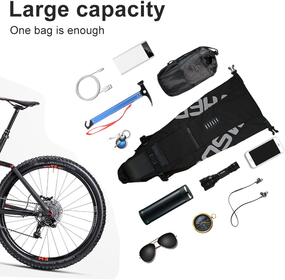 Gep/äckraumtasche Mountainbike-Gep/äckraumtasche Road Riding Equipment-Satteltasche mit erweiterbarer Gep/äckkapazit/ät Qii lu Fahrradsatteltasche , Fahrradsatteltasche