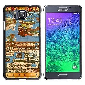 GIFT CHOICE / Teléfono Estuche protector Duro Cáscara Funda Cubierta Caso / Hard Case for Samsung ALPHA G850 // Old Game Map //