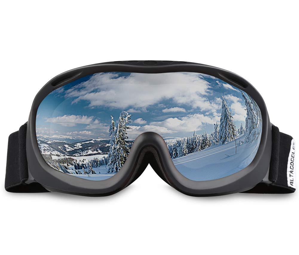 af4789af60c5 Amazon.com   AKASO Ski Goggles an-ti Fog Double Lens Skate Glasses ...