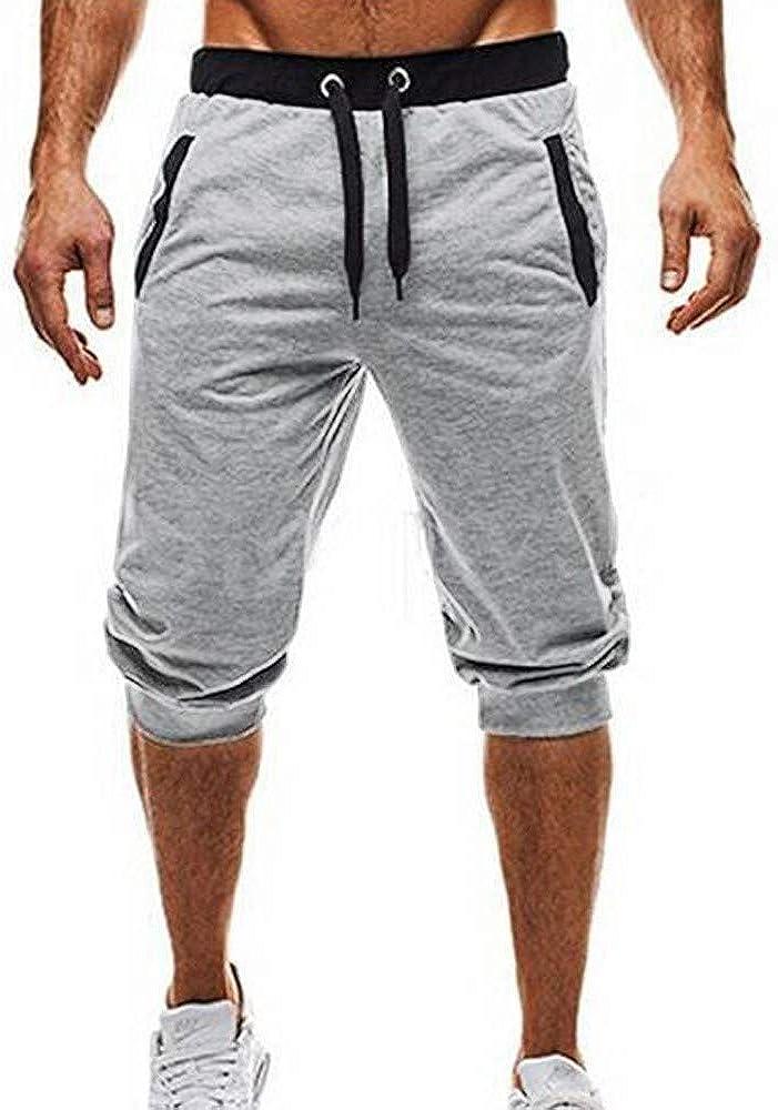 JiaMeng Bolsillos Deportivo Casual Cordón Sport Fitness Jogging Elastic Stretchy Bodybuilding Bermuda Pantalones Deportivos Gimnasio Sport Jogging Pantalones: Amazon.es: Ropa y accesorios