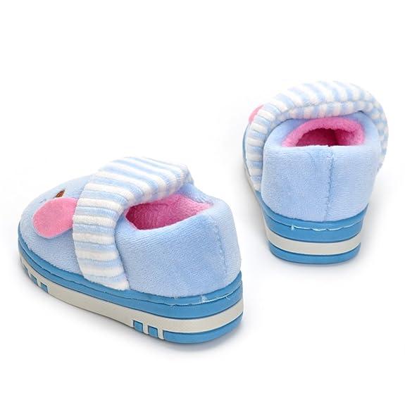 Estamico,Pantuflas de Invierno con Suela de Goma Antideslizante para niña de niño pequeño Zapatillas de casa Calientes,Azul 27/28 EU: Amazon.es: Zapatos y ...