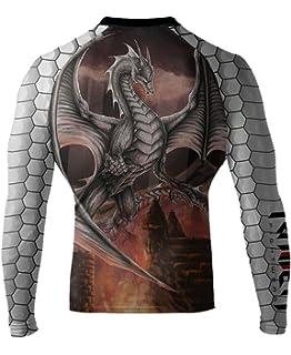 Raven Fightwear Mens The Great Old Ones Azathoth Rash Guard MMA BJJ Black