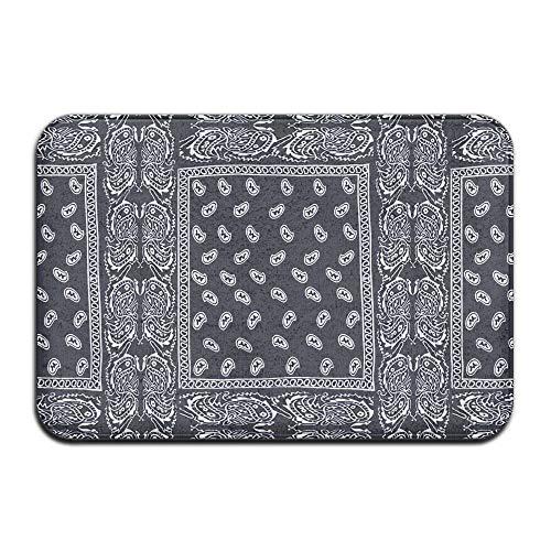 TONICCN Non-Slip Doormats Paisley Bandana Floor Carpet Mat 31.5x19.7 Inch